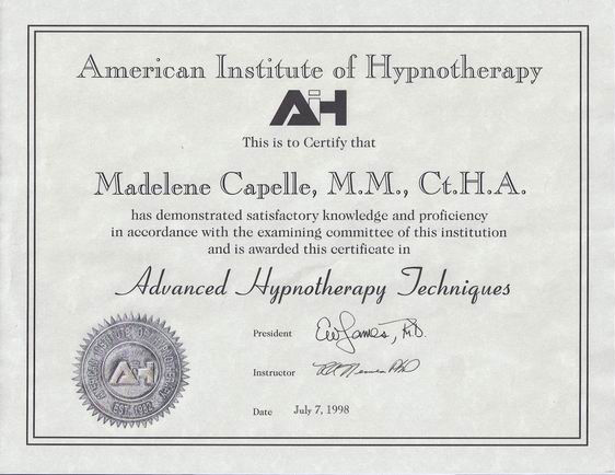 Capelle Hypnosis | Educational/Certification